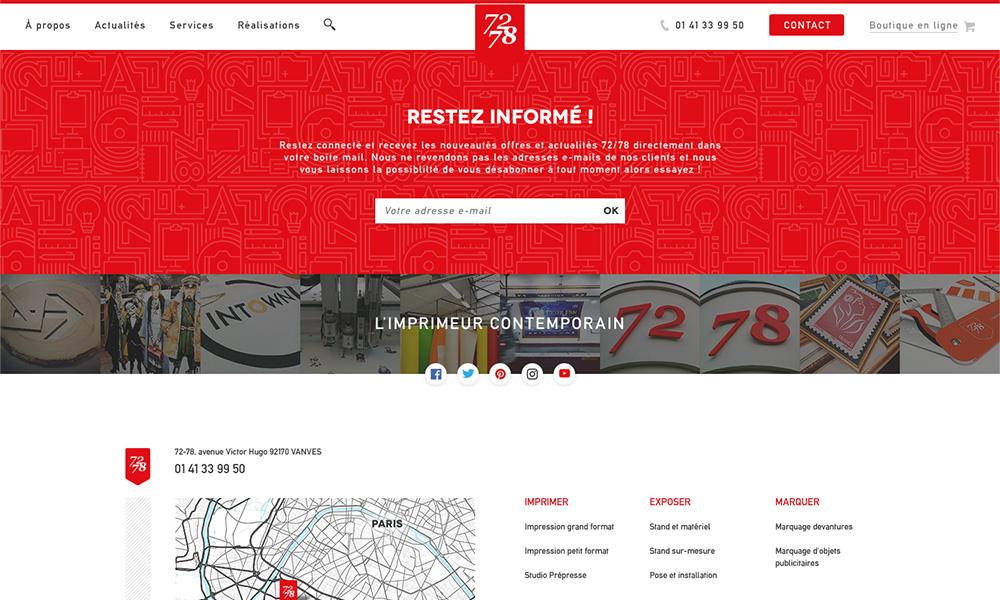 Trang website 72/78, thiết kế bởi Sutunam